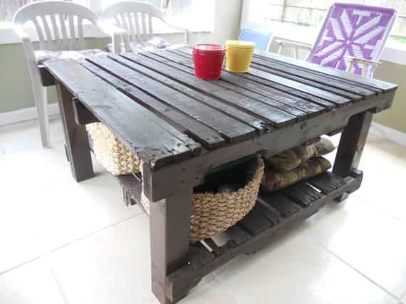 Upcycled Pallet Table Pallet Desks & Pallet Tables