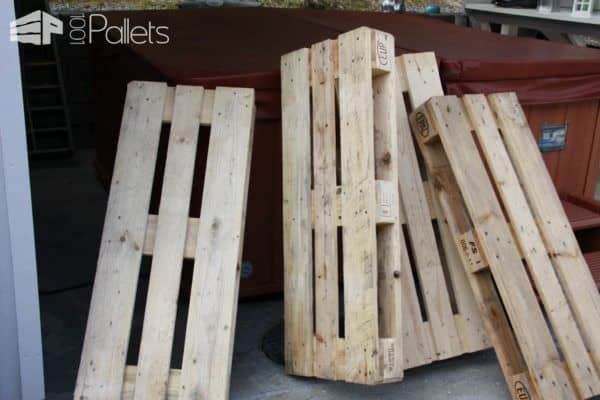 Winter Garden Made from Repurposed Pallets Lounges & Garden SetsPallet Terraces & Pallet Patios