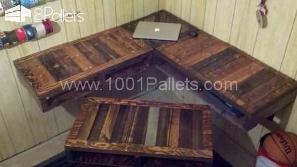 Desk 600x338 Pallet Furniture in pallet furniture  with Pallets Desktop Chair Bench