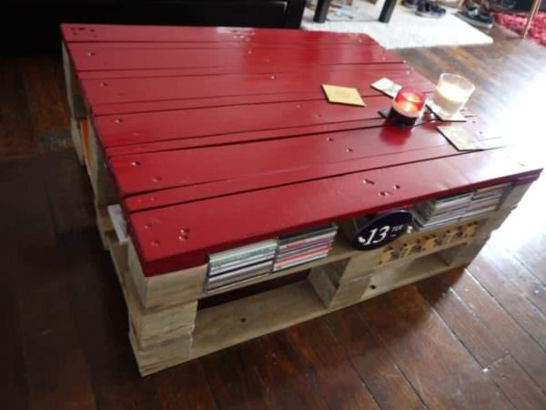 Basque Red Pallet Coffee Table Pallet Coffee Tables