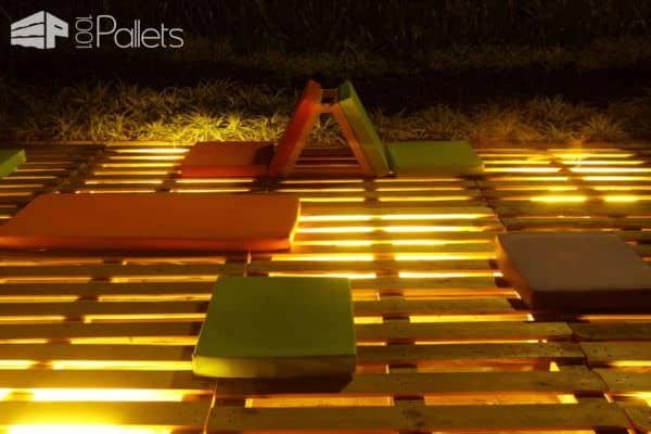 Chill Out Space Made Out of Upcycled Pallets Lounges & Garden Sets