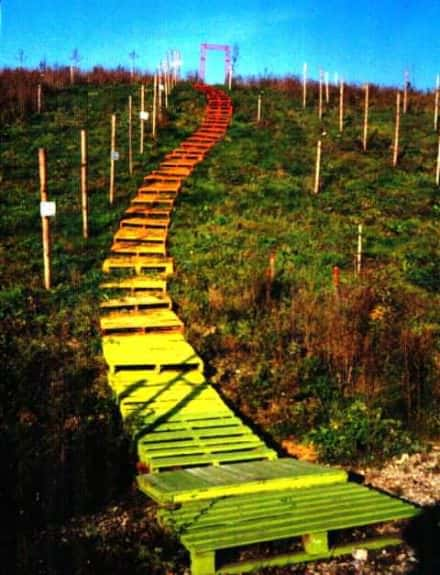 Colored Pallet Stairs