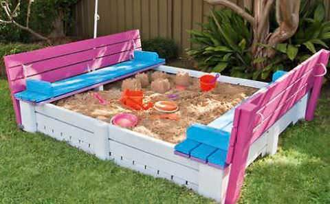 Diy Project: Sandpit Made Out of Pallets Fun Crafts for Kids Pallets in The Garden