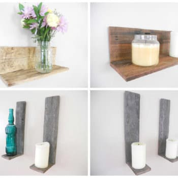 Floating Wall Pallet Shelves