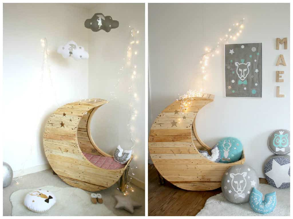 Moon Cradle Made Out Of Wooden Pallets Pallet Ideas