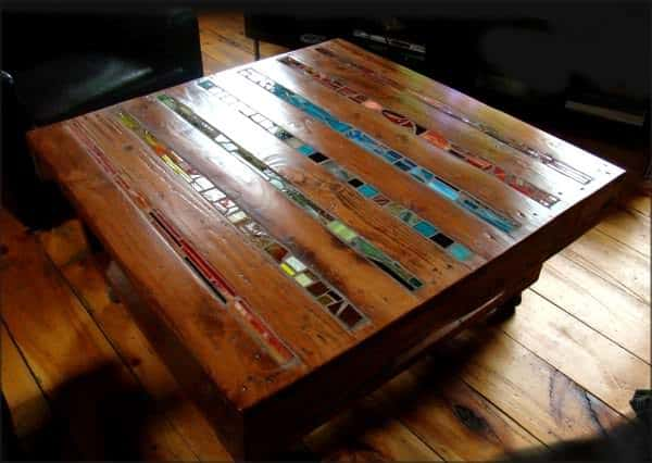 mosaic pallet coffee table • pallet ideas • 1001 pallets