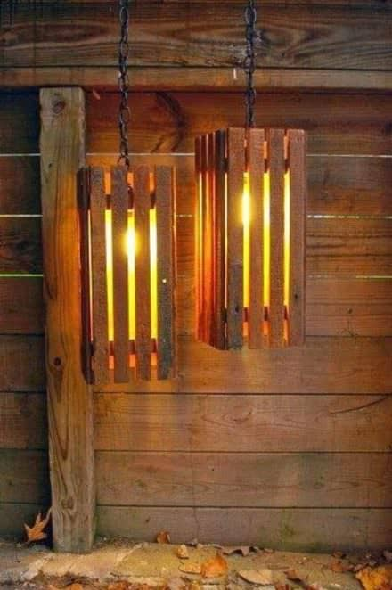 Old Wood Pallets Lamps