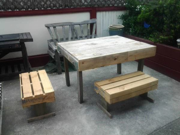 Outdoor Pallets Table & Chairs Pallet Benches, Pallet Chairs & Stools Pallet Desks & Pallet Tables