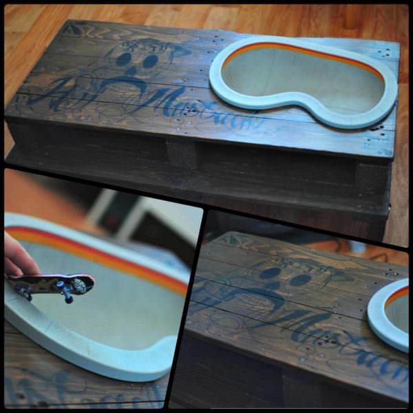 Pallet Coffee Fingerskate Table Pallet Coffee Tables
