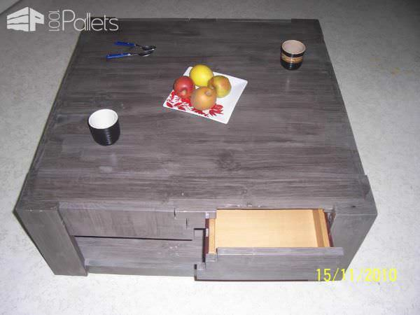 Luxury Pallet Coffee Table With Drawers Pallet Coffee Tables
