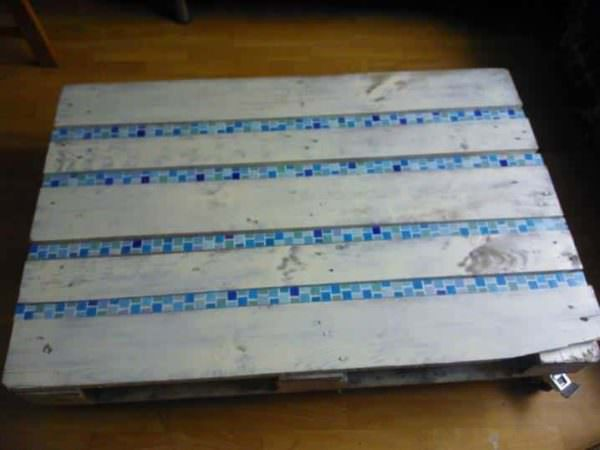Pallet Coffee Table With Mosaic Pallet Coffee Tables