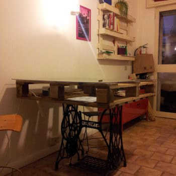 Pallet & Sewing Machine Table