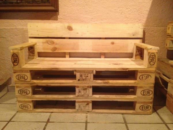 Pallets Banca Para Dos / Upcycled Pallet Bench Pallet Benches, Pallet Chairs & Stools