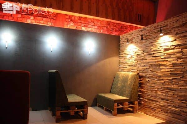 Pallets Bar in Kyrgyzstan Pallet Store, Bar & Restaurant Decorations Pallet Walls & Pallet Doors