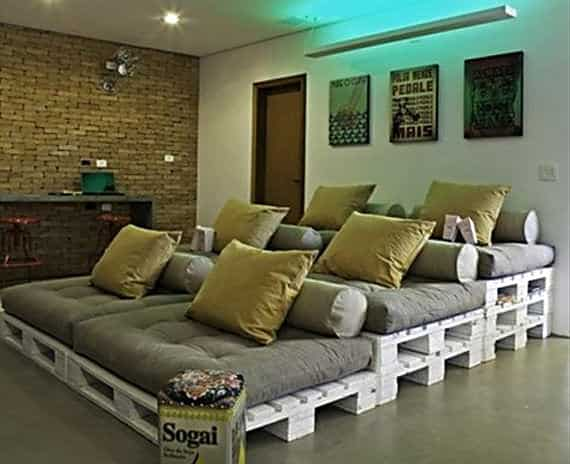 Pallets Home Theater Seating Pallet Sofas