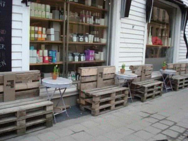 Pallets Street Installation in Kristiansand, Norway Pallet Benches, Pallet Chairs & Pallet Stools