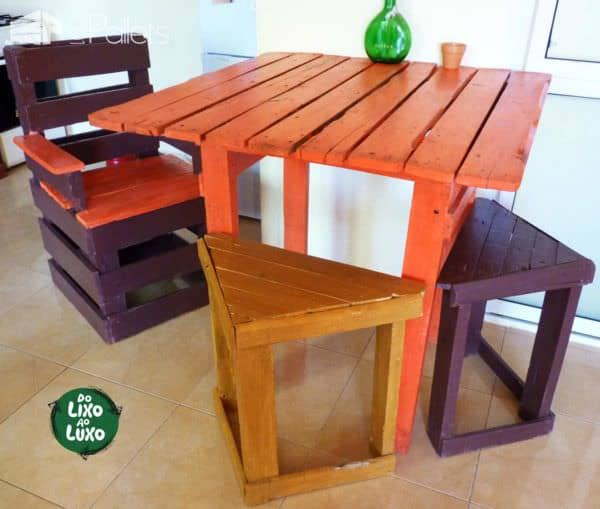 Pallets Terrace Furniture Set Pallet Terraces & Pallet Patios