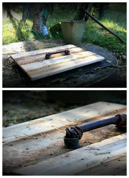 Recycled Pallet as a Cover for a Well