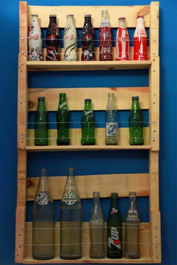 Rural Pop - Pallet Bottle Rack Pallet Desks & Pallet Tables Pallet Shelves & Pallet Coat Hangers