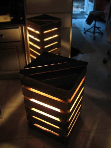 Upcycled Pallet Cube Light Pallet Lamps, Pallet Lights & Pallet Lighting