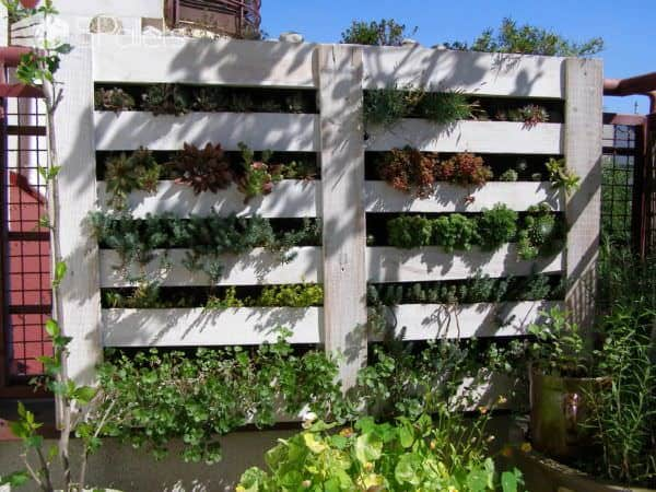 Upcycled Pallet Into Vertical Garden Pallet Planters & Pallet Compost