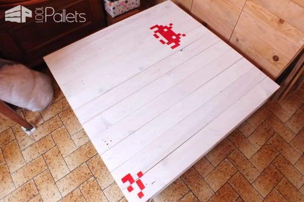 White Painted Pallet Coffee Table Pallet Coffee Tables