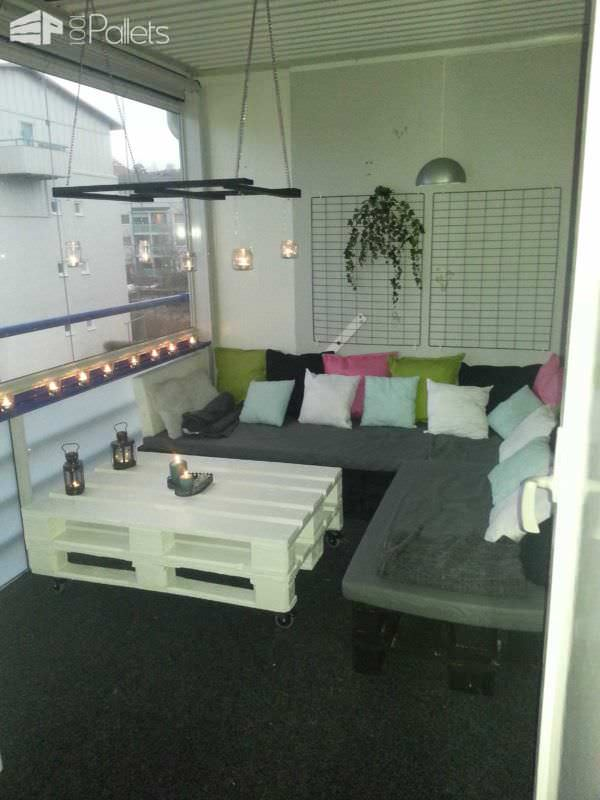 Balcony Pallets Lounge Lounges & Garden Sets