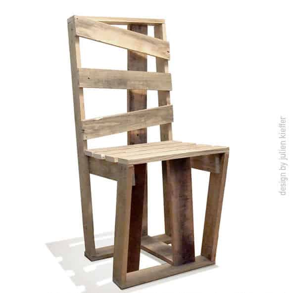 Pallet Kitchen Chairs: Crate Chair Made With Recycled Pallets • 1001 Pallets