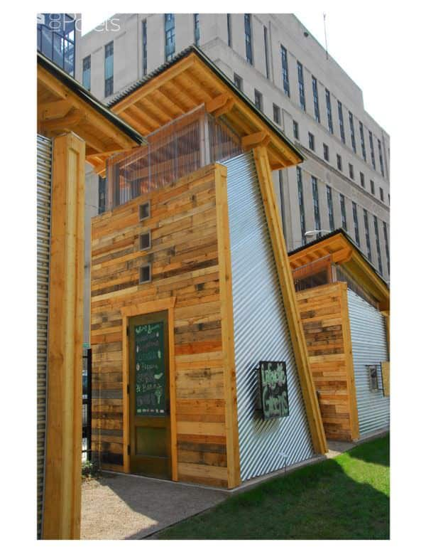 Garden Shed Made Out Of Recycled Pallets Pallet Sheds, Cabins, Huts & Playhouses