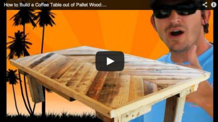 How to Build a Coffee Table Out of Pallet Wood