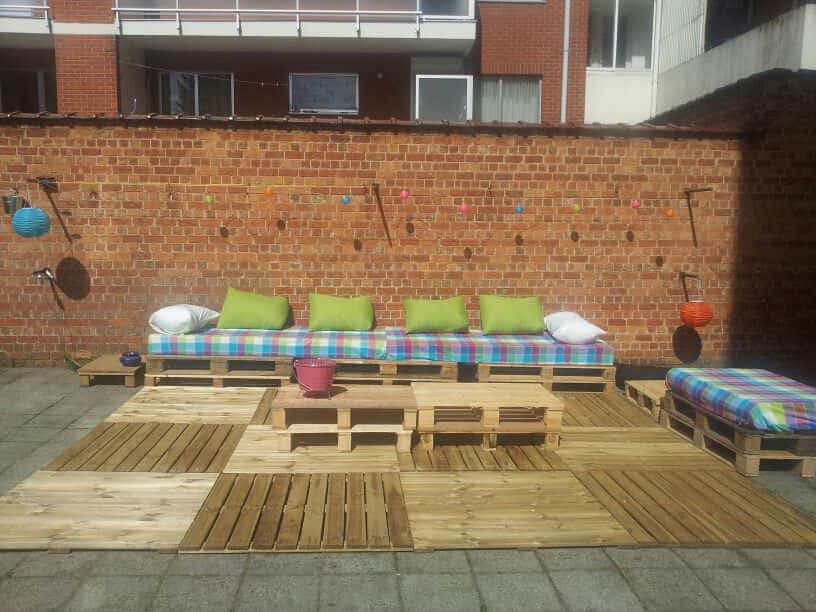 How to transform a courtyard with pallets • pallet ideas • 1001 ...