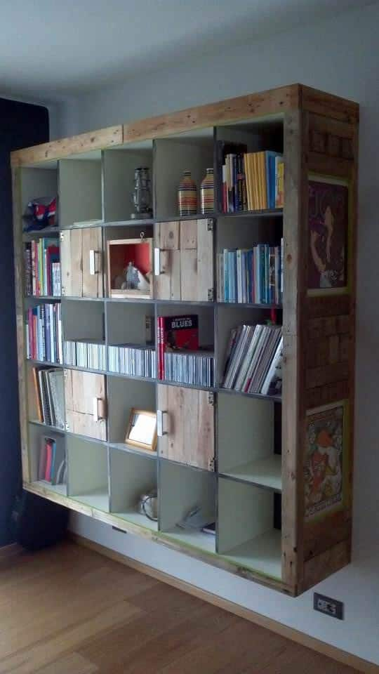 Ikea Hackers: Expedit Cabinet With Upcycled Pallets Pallet Cabinets & Pallet Wardrobes
