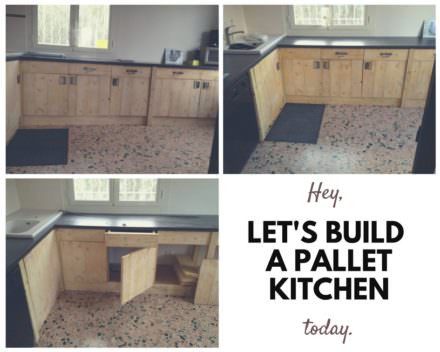 Kitchen Entirely Made From Repurposed Pallets