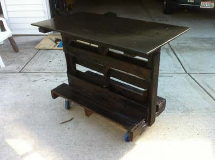 Kitchen Island Cart From Upcycled Pallet Wood