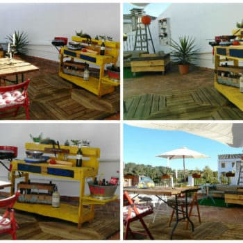 La Precaria: Pallet Outdoor Kitchen