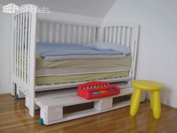 Modular King Size Kids Pallet Bed Made With Upcycled