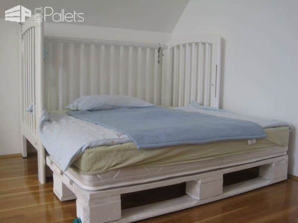 "Modular ""king Size"" Kids Pallet Bed Made With Upcycled Pallets Pallet Beds, Pallet Headboards & Frames"