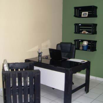 My Office Furniture Made With Recycled Pallets & Wooden Crates