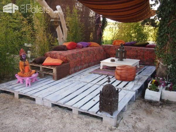 Outdoor Pallet Deck Pallet Terraces & Pallet Patios