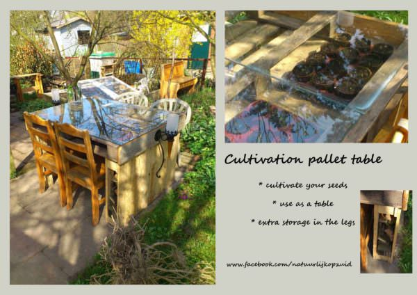 Outdoor Growing Pallet Table Pallet Desks & Pallet Tables Pallet Planters & Compost Bins