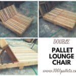 Double Pallet Lounge Chair