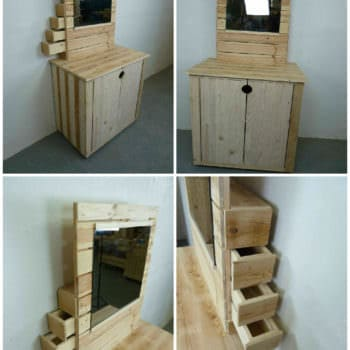 Pallet Dresser With Side Drawers