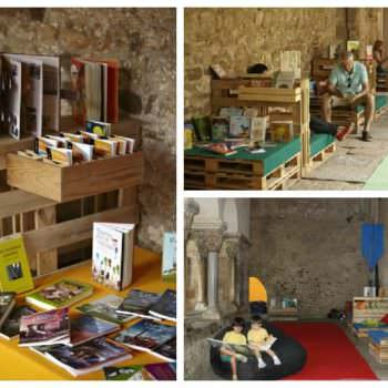 Pallet Furniture For A Books Exhibition
