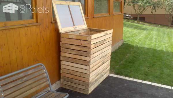 Pallet Garbage Bin Shelter Pallet Boxes & Pallet Chests