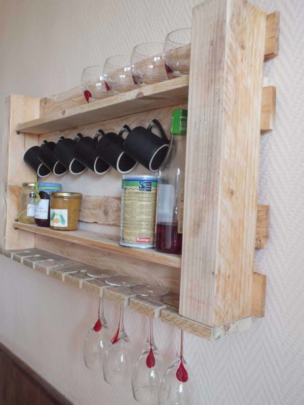Pallet Kitchen Shelf Pallet Shelves & Pallet Coat Hangers