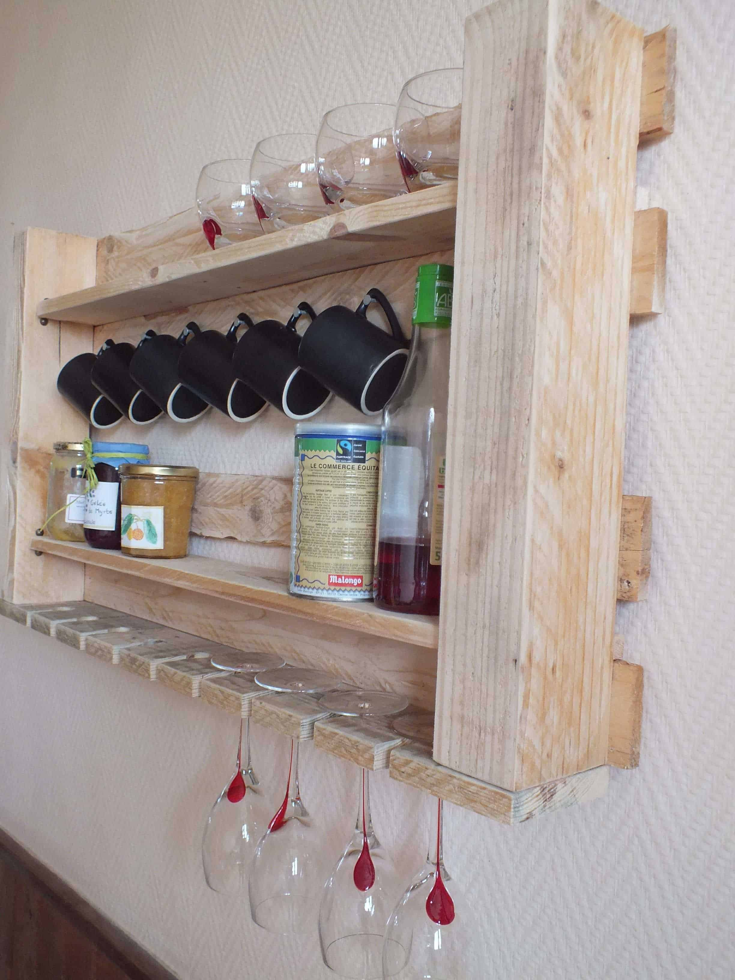 Pallet Kitchen Shelf • 1001 Pallets