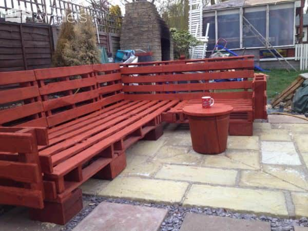 Pallet Outdoor Sofa Lounges & Garden Sets Pallet Sofas