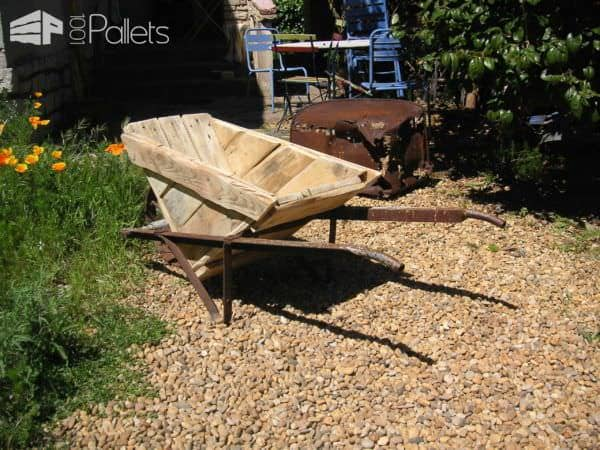 Pallet Wheelbarrow Pallets in the Garden