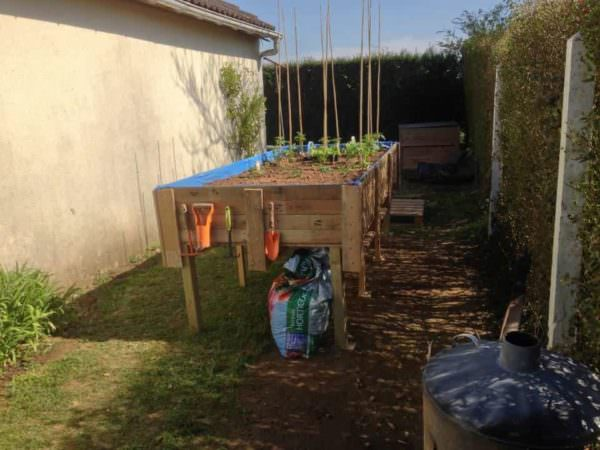 Pallets Vegetable Garden For Gardeners With Backaches Pallet Planters & Compost Bins