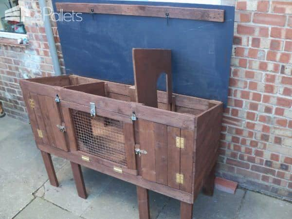 Recycled Pallet Rabbit Hutch 1001 Pallets